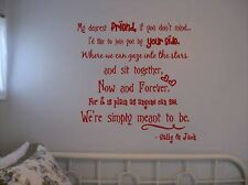 MY DEAREST FRIEND QUOTE FROM THE NIGHTMARE BEFORE CHRISTMAS JACK AND SALLY LARGE