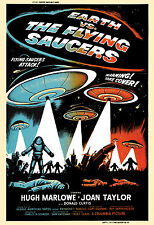 1950's Sci-Fi  *  Earth vs The Flying Saucers *   Alternate  Movie  Poster 1956