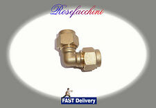 90° 8mm =5/16 BRASS ELBOW COMPRESSION CONNECTOR JOIN LPG GAS PIPE FITTING OLIVES