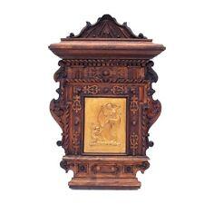 Holz geschnitzt Platte Messing Darstellung Cupido Diana Putti Engel Wandbild