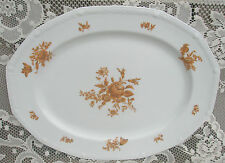 Old Vintage Narumi Excelsior Oval Serving Platter Plate Summer Gold 5447 Japan