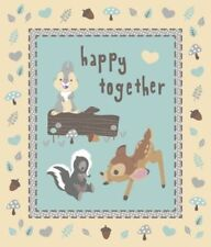 BAMBI FABRIC quilt top HAPPY TOGETHER FABRIC PANEL DISNEY FABRIC CP55608 NEW