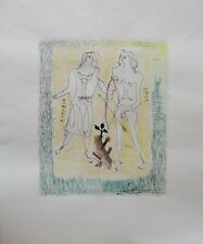 Georges Braque Original Dry Point Etching With Coloring Eurybia And Eros 1932