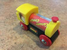 Authentic Brio Wooden Train Curious George Spinning Boiler Engine! Thomas