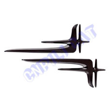 Pair Halberd Car Body Rear Side Fender Emblem Stickers for Mercedes Benz C E S