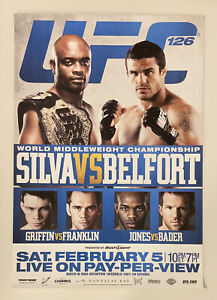 UFC 126 Event Poster, Anderson Silva, Vitor Belfort, 27x39, Unsigned