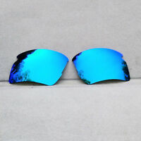 Ice Blue Mirrored Polarized Replacement Lenses for-Oakley Flak 2.0 XL Sunglasses