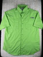 Women's Columbia PFG Lime Green Short Sleeve Shirt Size S