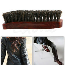 Practical Horse Hair Professional Shoe Shine Polish Buffing Brush Wooden Hot