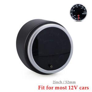 "2"" 52mm Universal Car 10 Color LED Display Vacuum Gauge Meter -10 to 0 Bar Kit"