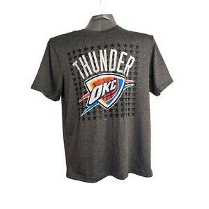 OKC Thunder NBA T-Shirt Men's Size X Large Gray Chest Logo