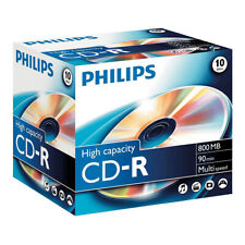 10x Philips CD-R Rohlinge 800 MB 90 Minuten 52x Multi Speed im Jewelcase