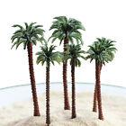 7cm + 9cm 2pcs Dollhouse Miniature Plastic Street Garden Yard Mini Coconut Tree