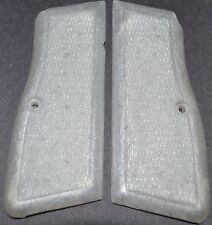 Browning high power pistol grips pearl white plastic