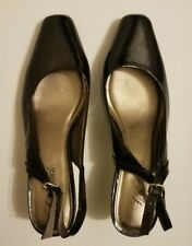 Life Stride Women's Size US 8W Square Toe Black Heel Shoes