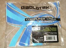 Cable USB to DB25 Female Parallel Adapter Cable New in Package 6 Ft High Speed