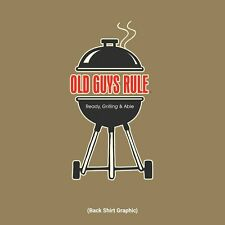 "OLD GUYS RULE "" READY GRILLING AND ABLE "" GRILL MASTER PRAIRIE DUST BBQ S/S M"