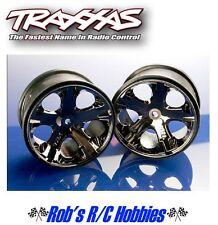 "TRAXXAS  BlackChrome All Star 2.8"" Wheels (2) Rear Monster Jam Trucks (TRA3772A)"