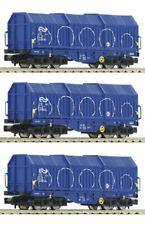 Fleischmann 838825 3-tlg. Set Teleskophaubenwagen Shimmns der NS, DC, Spur N