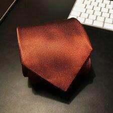 BRIONI silk tie bronze hand made in Italy (dis. 31307)