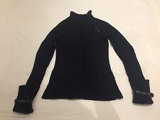 Karen Millen Wool Mix Black Long Jumper with Zip Detail Collar UK size 1 (8/10)