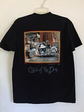 Vintage Harley Davidson T-shirt Tee, Scott Jacobs Harley Catch of the Day 1996
