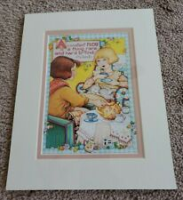 """New 1998 Mary Engelbreit 8x10 Matted Print - """"A Constant Friend"""""""