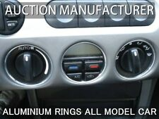 Ford Cougar 98-02 Heater Control Surrounds Dash Chrome Rings Polished Alloy 3pcs