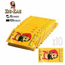 Lot de 10 Carnets de Feuilles Courtes Zig Zag Jaune