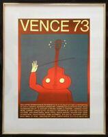 JEAN-MICHEL FOLON (1934-2005) AFFICHE ANCIENNE SERIGRAPHIE VENCE 1973 (6)