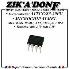 Microcontrôleur Attiny85 DIP-8 ATMEL Attiny85-20PU (MICROCHIP)