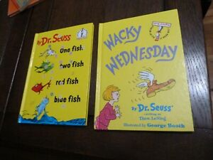 Dr Seuss One Fish Two Fish Red Fish Blue Fish 1988 Wacky Wednesday 2002
