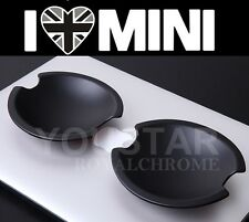 UK STOCK 2X MATT BLACK MINI Cooper Door Handle Cups R50 R52 R53 R55 R56 R57