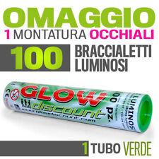 100 BRACCIALETTI LUMINOSI VERDE fluo DJ starlight dj BRACCIALI glowstick 30337