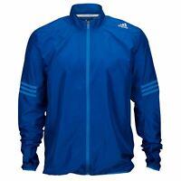 adidas Response Wind Running Jacket Mens Blue Jogging Track Zip Top