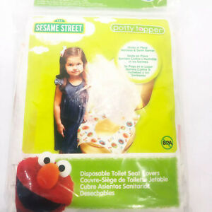 Sesame Street Potty Topper Disposable Stick in Place Toilet Covers 10 Count Pk