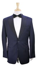 From the Personal Closet of TOMMY HILFIGER Navy Peak Lapel Tuxedo Wool Suit 38S