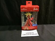 Hallmark Barbie Christmas tree Ornament Walmart exclusive red dress