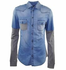 Figurbetonte Herren-Freizeithemden & -Shirts aus Denim mit Kentkragen ohne Mehrstückpackung