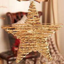 Gold Sparkly Twig Hanging Star Home Party Wedding Venue Decoration 40cm Vintage