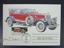 1929 Pierce Arrow Ken Dallison Autographed Maximum Card First Day Detroit 1988