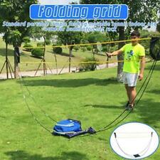 Outdoor Foldable Badminton Tennis Volleyball Net Stand Set Beach Sport Best