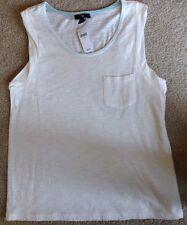 New Gap Tank Top White w/ Pocket - Size M - Retail 22.99