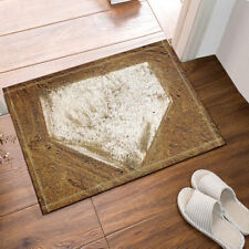 Home Plate Baseball Non-Slip Floor Entryways Outdoor Indoor Front Door Mat