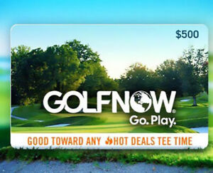 $500 Golf Now Gift Card