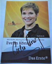 Evelin KÖNIG - Fernsehmoderatorin - Karte mit Original Autogramm - Super - Top !