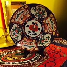 "EXQUISITE GOLD IMARI JAPANESE 9 1/2"" CHARGER HANGING PLATE HAND PAINTED"