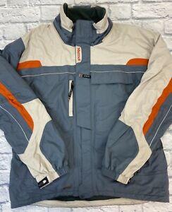 Marmot Men's Ski Jacket with Removable Hood Nylon Gray Beige Sz XL