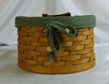 Htf Longaberger 2006 Small Scalloped Pocket Basket Combo