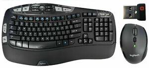 Logitech MK570 Wave Comfort Wireless K350 Keyboard M705 Mouse Combo 920-008001